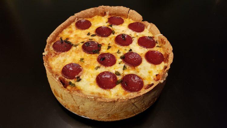 deep dish pizza - lavkarbo