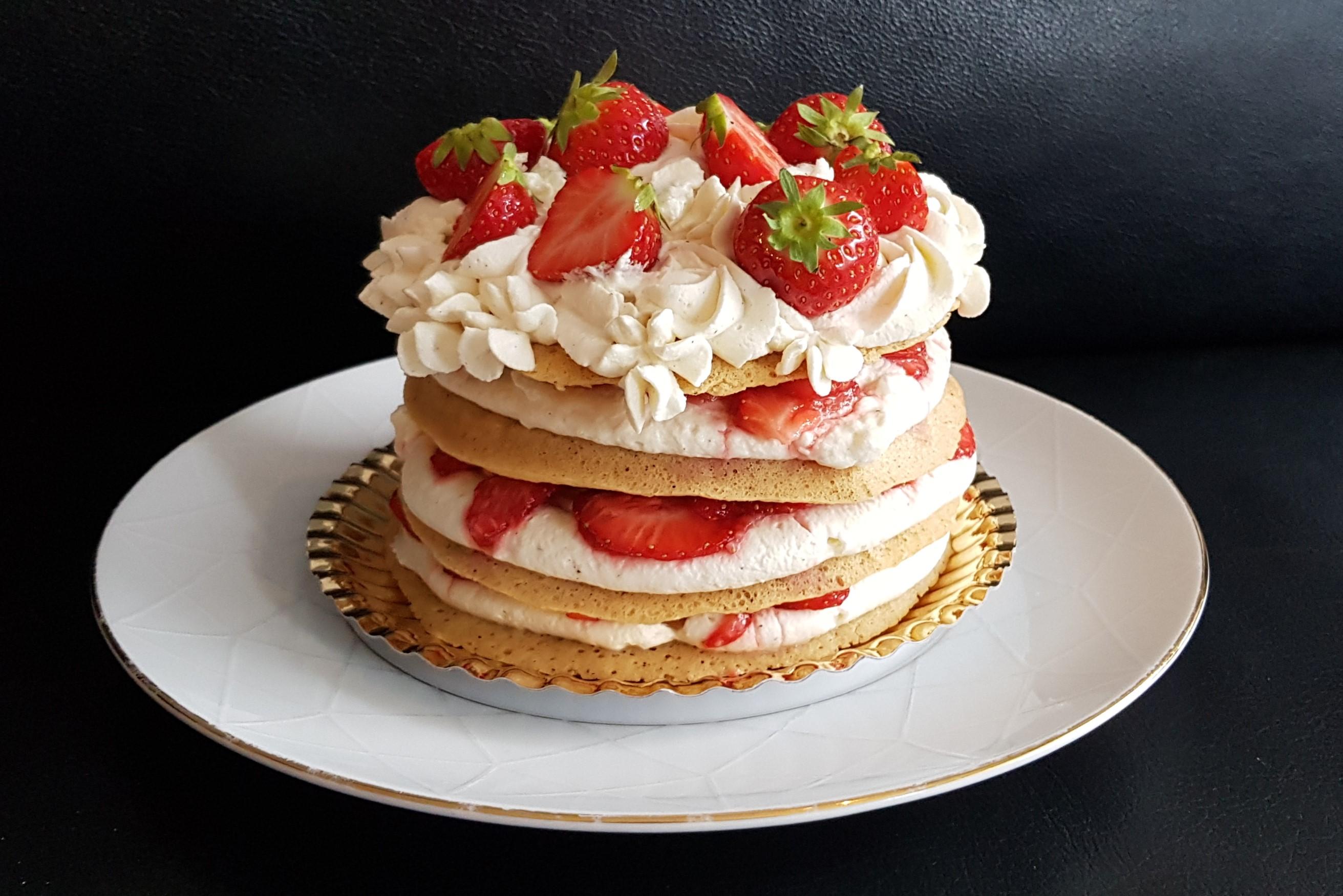Lavkarbo Strawberry Shortcake