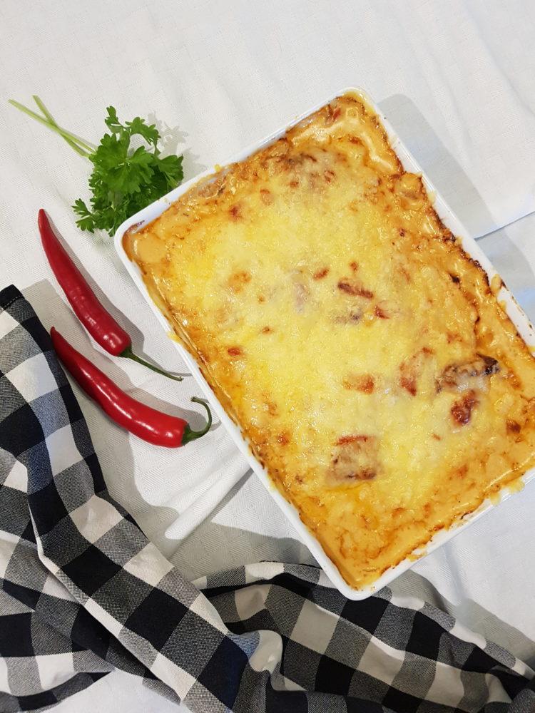 Baconsurret Kylling i Kremet Sambal Oelek Saus